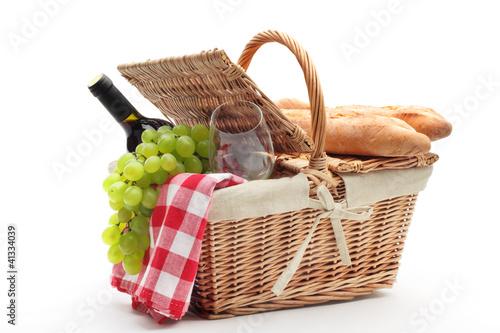 Stickers pour portes Pique-nique picnic basket