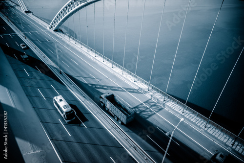 Fototapeta traffic of bridge obraz na płótnie