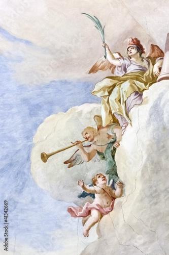 Fotografie, Obraz  Fresco Wieskirche