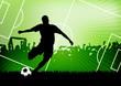 Leinwandbild Motiv soccer background