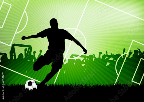 Juliste  soccer background