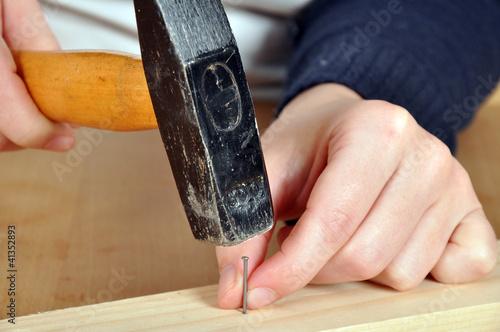 Gefahr beim Hämmern Canvas-taulu