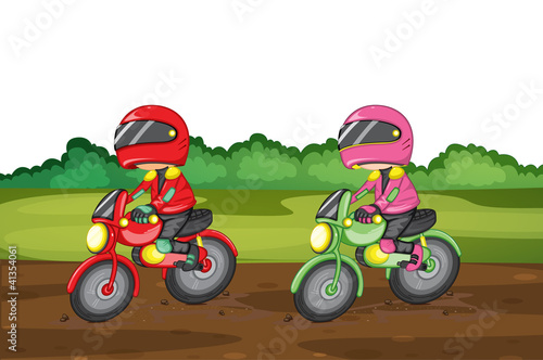 Poster Motocyclette racing