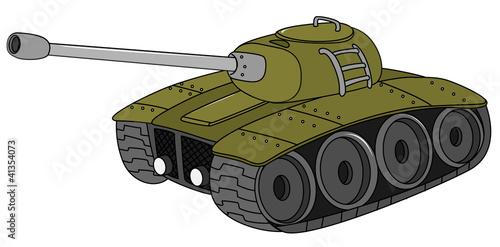 Deurstickers Militair tank