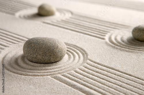 Acrylic Prints Stones in Sand Mini zen garden