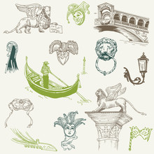 Venice Doodles - Hand Drawn - ...