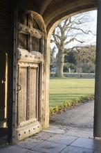Open Large Wooden Door