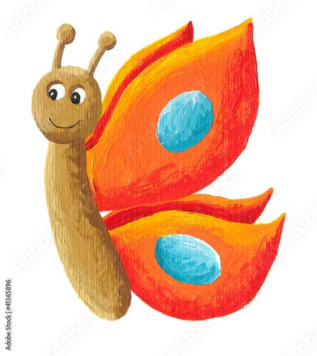 sliczny-pomaranczowy-motyl