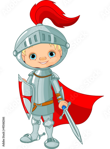 Door stickers Superheroes Medieval knight