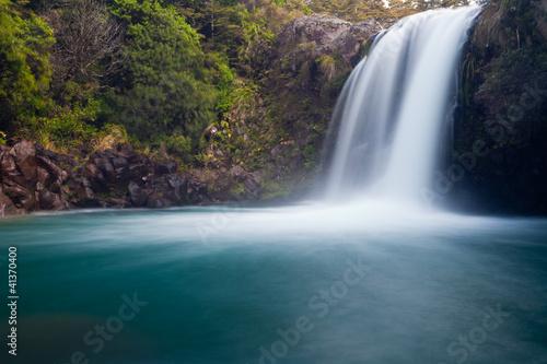 Foto op Plexiglas Nieuw Zeeland Tawhai Falls in Tongariro NP, New Zealand