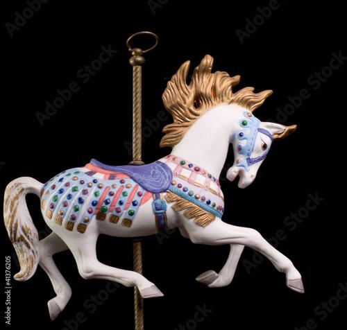 Fotografie, Obraz  Colorful Carousel Horse