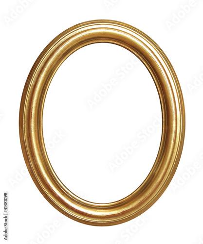 Fotografía cadre ovale ancien doré