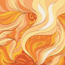 Абстрактный фон - пламя