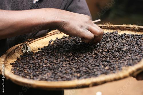 Cuadros en Lienzo Close up of Coffee Beans