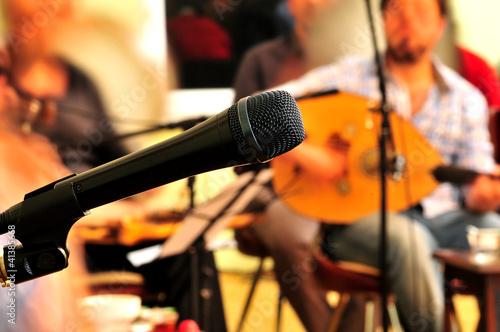 Fotografie, Obraz  mikrofon, kanun, müzik, konser,