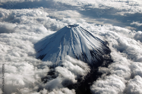 Fotografie, Obraz  上空から撮影した富士山頂上