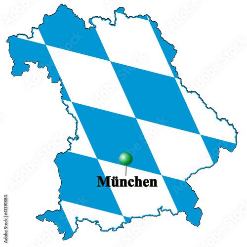 München Karte Bayern.Karte Flagge Bayern München Buy This Stock Illustration And