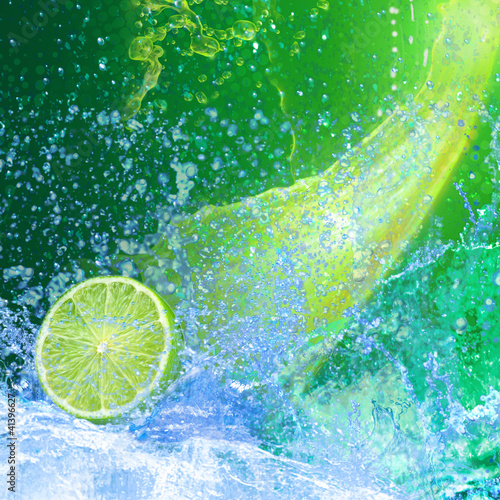 Recess Fitting Splashing water CITRON VERT