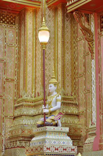 Photo  Lantern at the royal crematory, Thailand