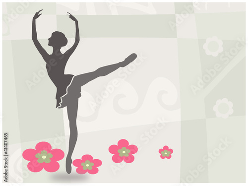 Obraz w ramie Ballet dance invitation card