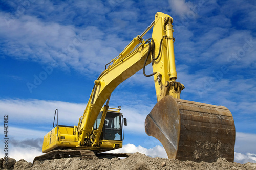Fotografía  Yellow excavator