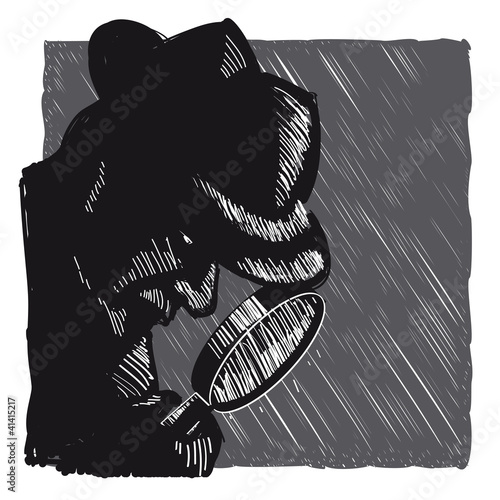 Detektiv Mit Lupe Und Hut Buy This Stock Vector And Explore