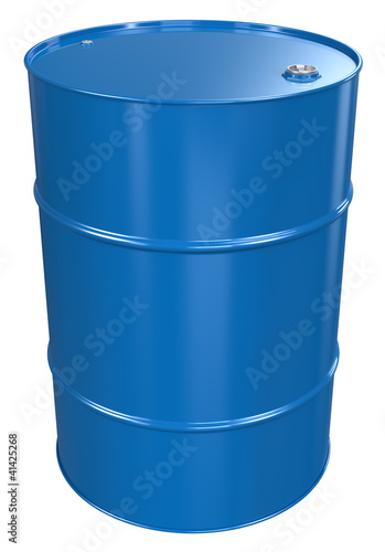 Oil Barrel. Blue Oil Barrel, Metal Lid. Isolated. Fototapete
