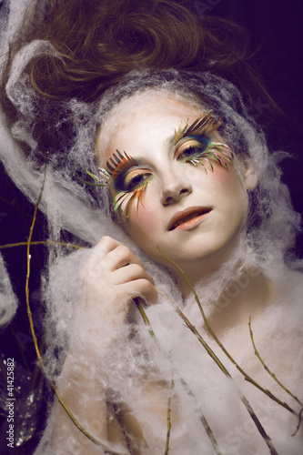 pretty young woman with creative make up