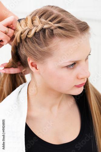 Obraz na plátně  Hair styling
