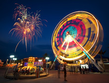 Amusement Park At Night - Ferr...