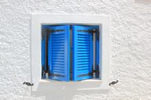 Traditional Window In Santorini