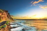 Zmierzch na zachodnim wybrzeżu Reunion. - 41442653