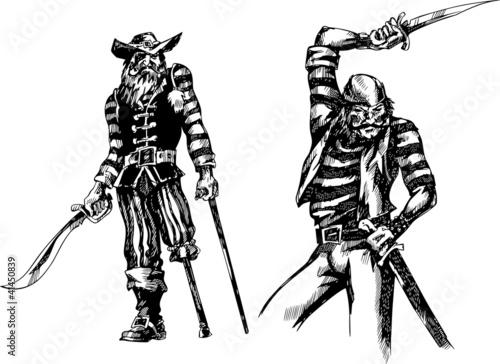 Foto op Plexiglas Art Studio Two pirates