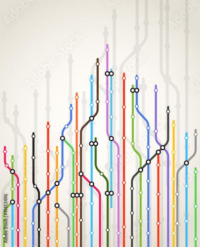 Fotografie, Obraz  Abstract color metro scheme background