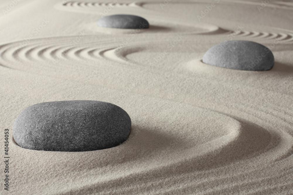Doppelrollo mit Motiv - Japanese zen garden