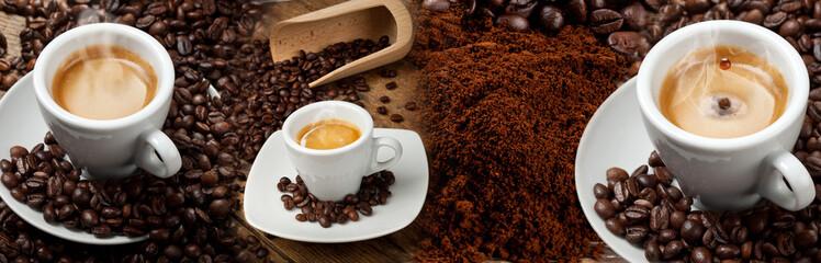 Panel Szklany Do kawiarni Espresso banner