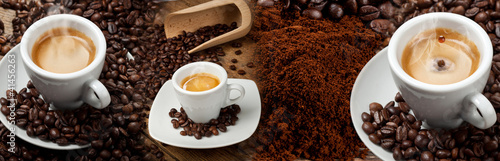 Cadres-photo bureau Café en grains Espresso banner