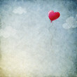 canvas print picture - heart balloon