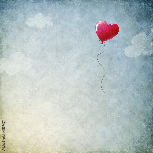 Fototapeta heart balloon