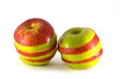 Two sliced apples