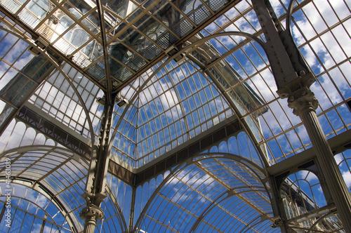 Aluminium Prints Train Station Palais de cristal.