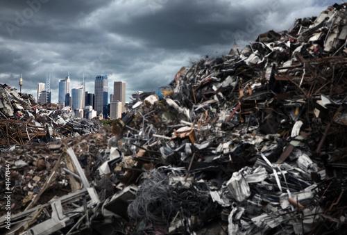 Türaufkleber Afrika Garbage