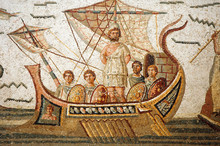 Mosaic Scene From Homer's Odys...