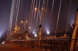 Fototapeta Fototapety mosty linowy / wiszący - Most Świętokrzyski w Warszawie
