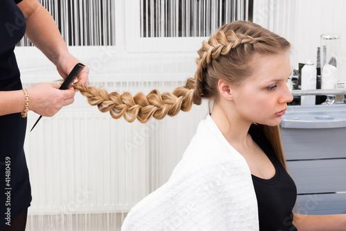 Fotografie, Obraz  weave braid girl
