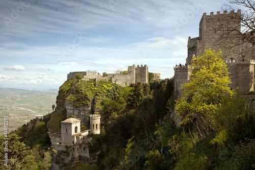 Fotografie, Obraz  fortress of Erice