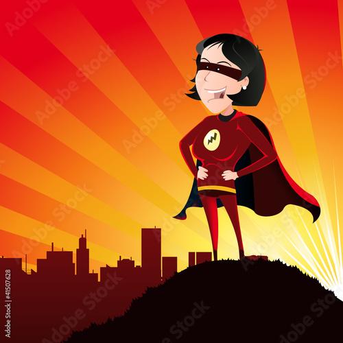 Poster Superheroes Super Hero - Female