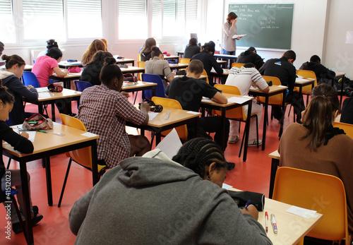 Foto  Prüfungsraum, Klassenzimmer