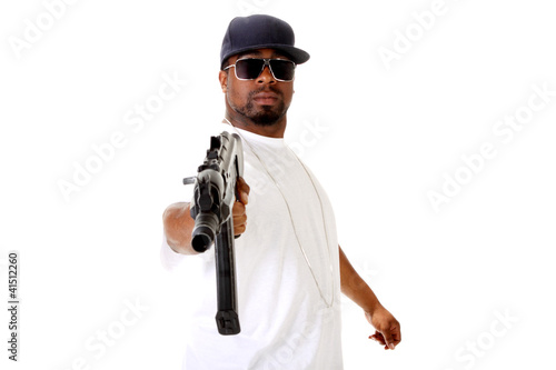 Gangster With An AK47 Assault Gun