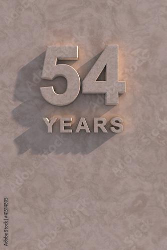 Fotografia  54 years 3d text
